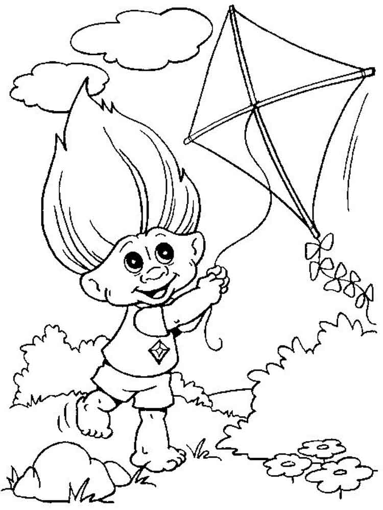 Trolls coloring pages free printable trolls coloring pages for Troll coloring pages