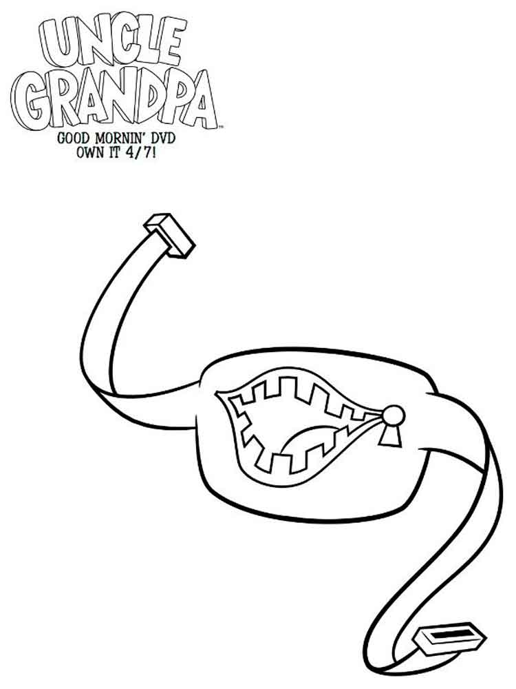 Uncle grandpa coloring pages Free Printable Uncle grandpa