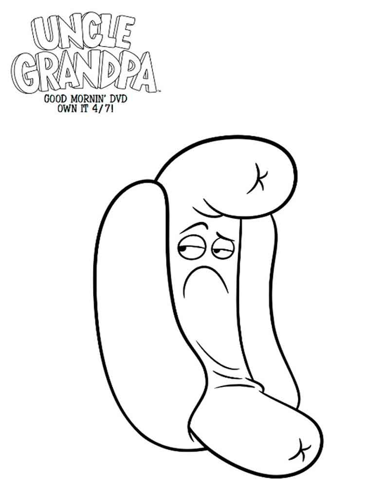 Uncle grandpa coloring pages free printable uncle grandpa for Uncle coloring pages