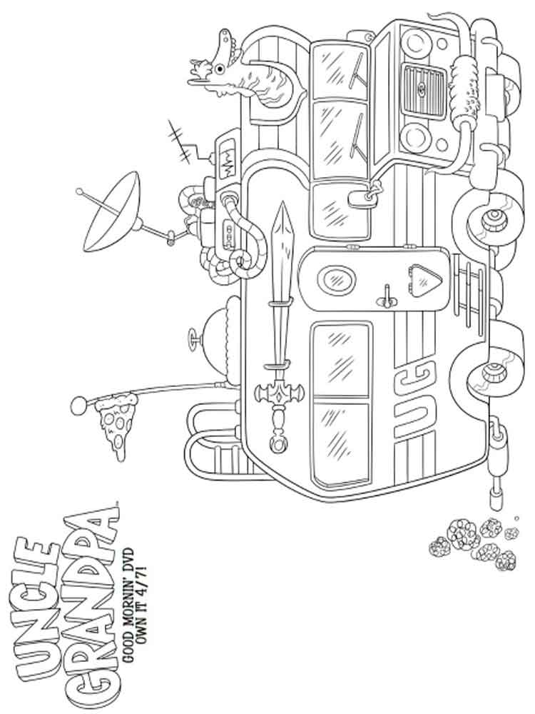 Free Coloring Pages Uncle Grandpa Printable