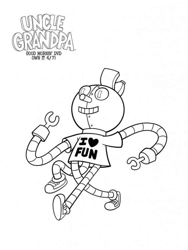Uncle grandpa coloring pages. Free Printable Uncle grandpa ...