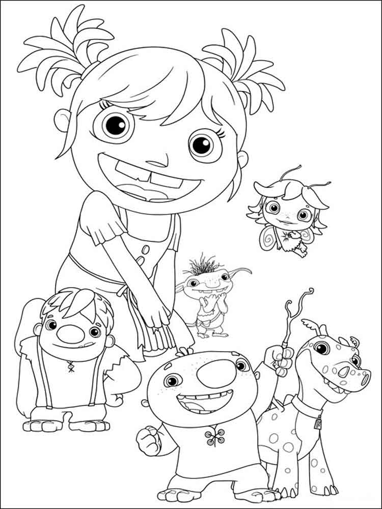 Wallykazam Coloring Pages 9