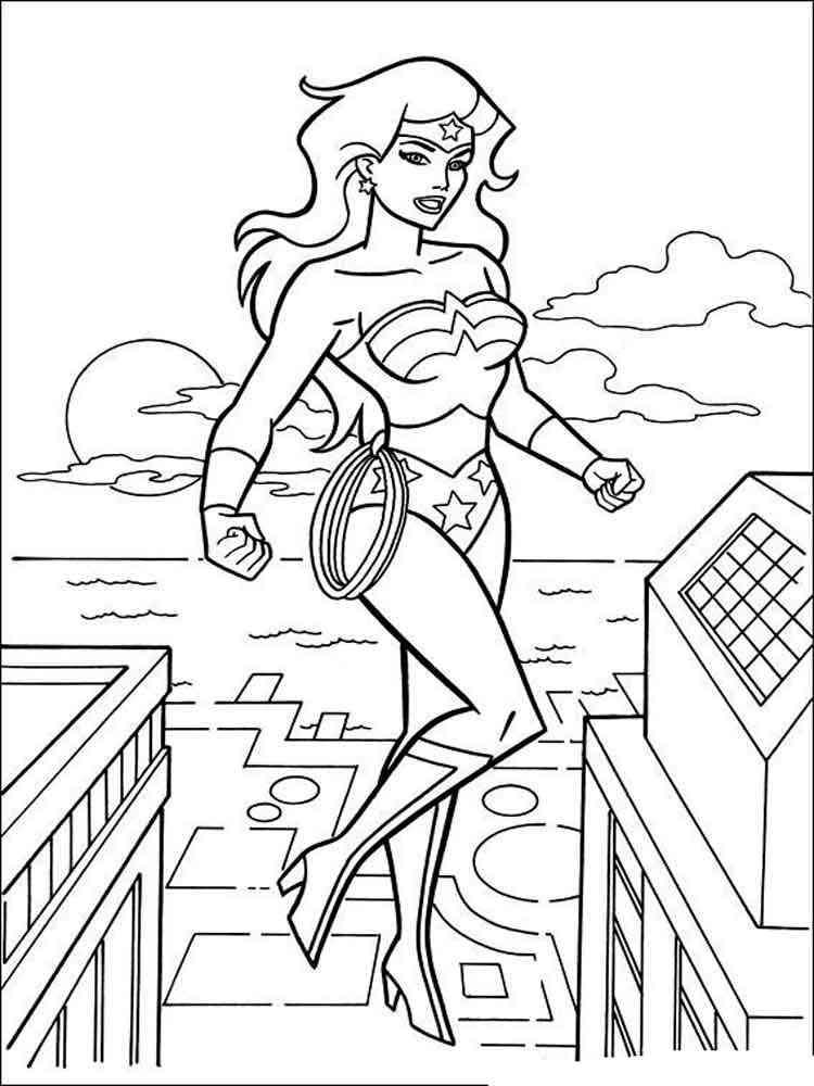 Wonder woman coloring pages free printable wonder woman for Woman coloring page