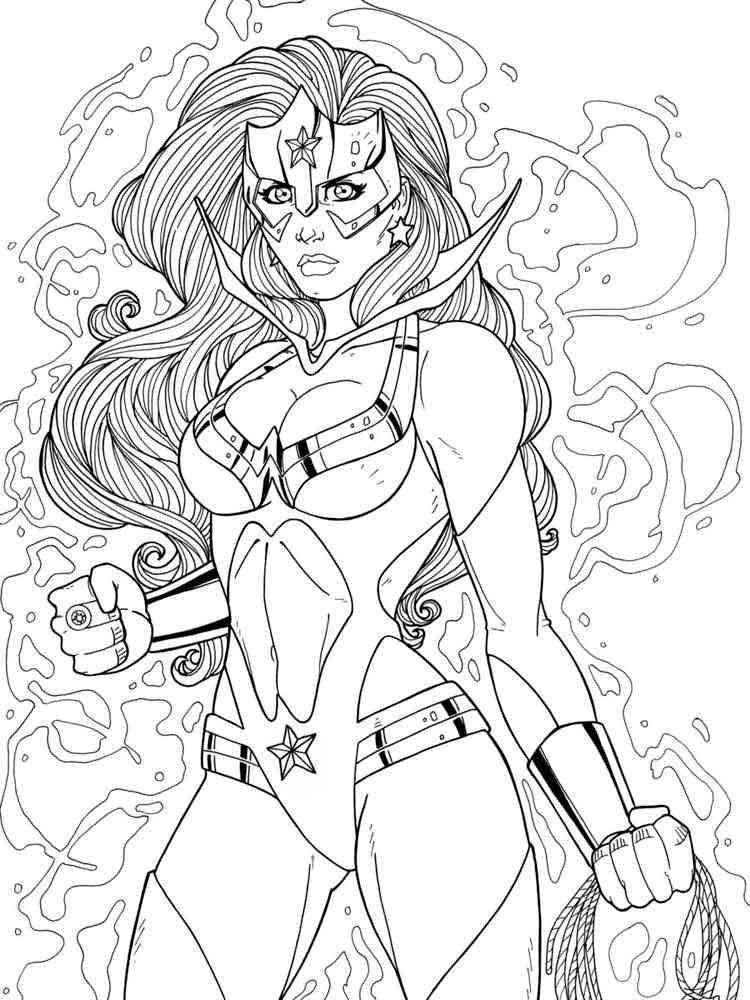 Wonder Woman Coloring Pages Free Printable Wonder Woman