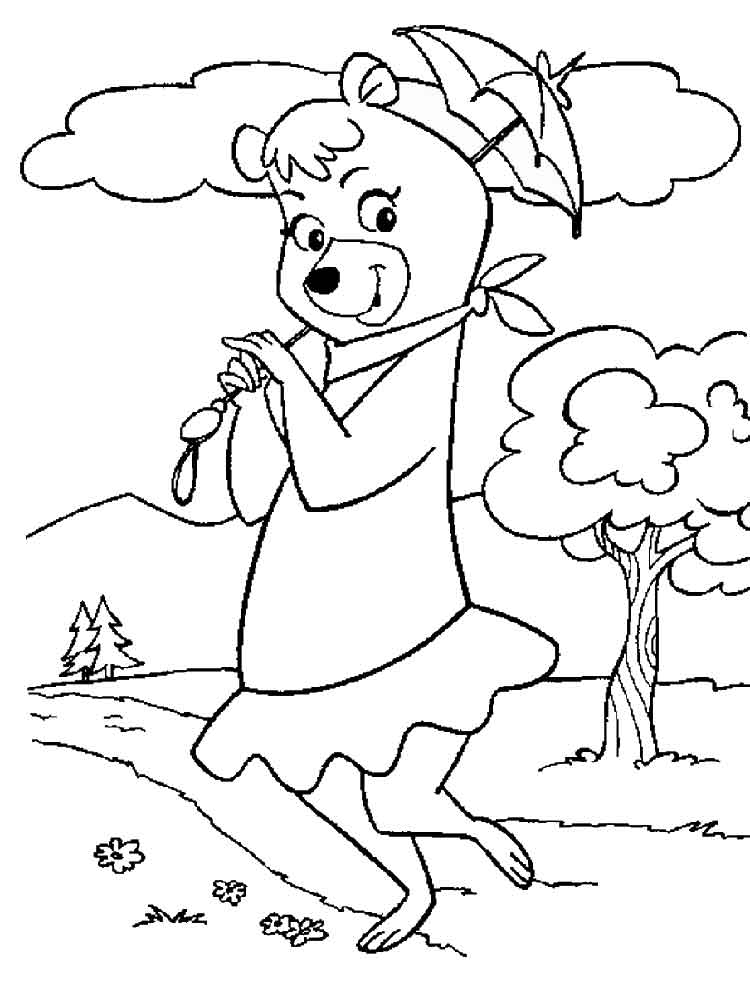 Yogi Bear coloring pages Free Printable Yogi Bear