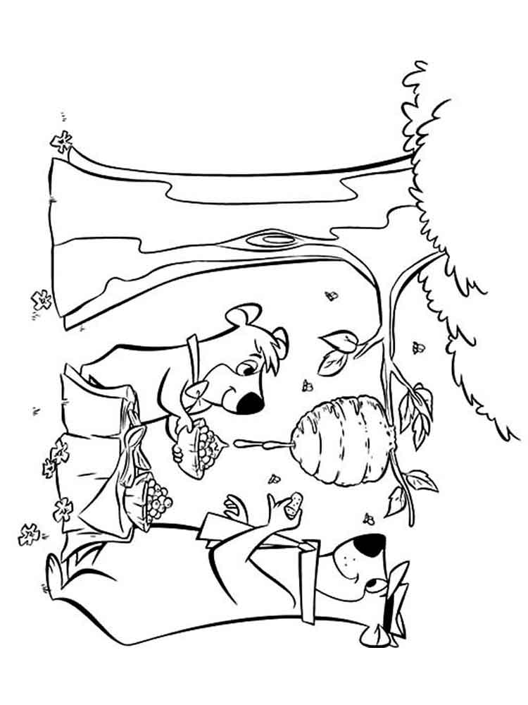Yogi Bear coloring pages Free