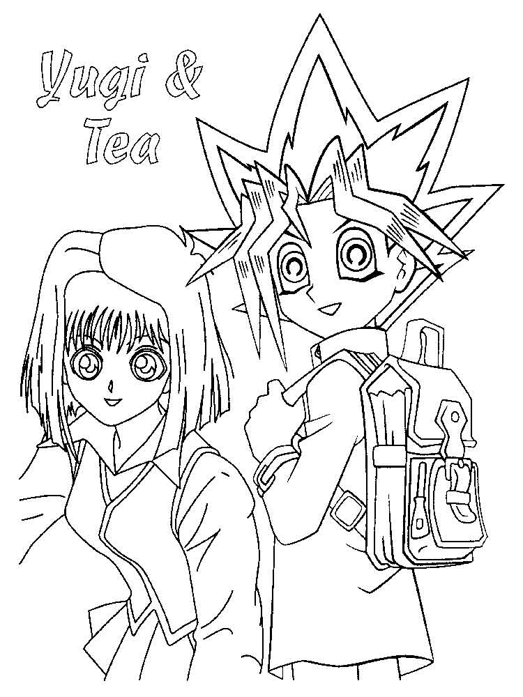 YU GI OH coloring pages Free Printable