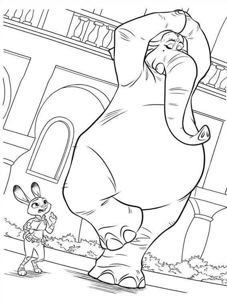 Zootopia coloring pages. Free Printable Zootopia coloring ...
