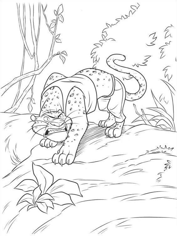 Zootopia coloring pages Free Printable
