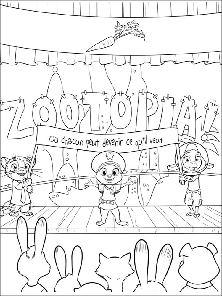 Zootopia Coloring Pages Free Printable Zootopia Coloring