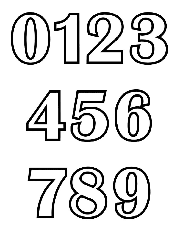 123 Number Coloring Pages 15