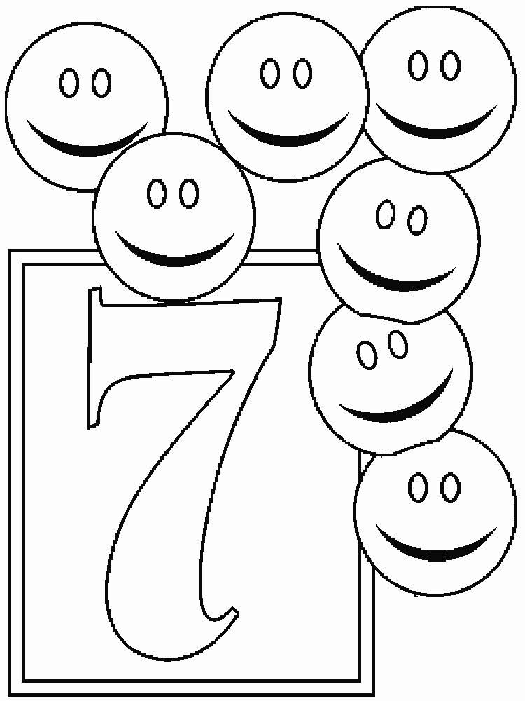123 Numbers Coloring Pages Download And Print 123 Numbers Number 7 Coloring Page