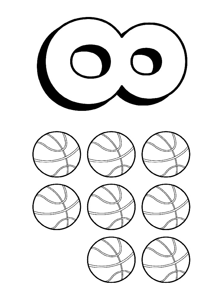123 Numbers coloring pages Download