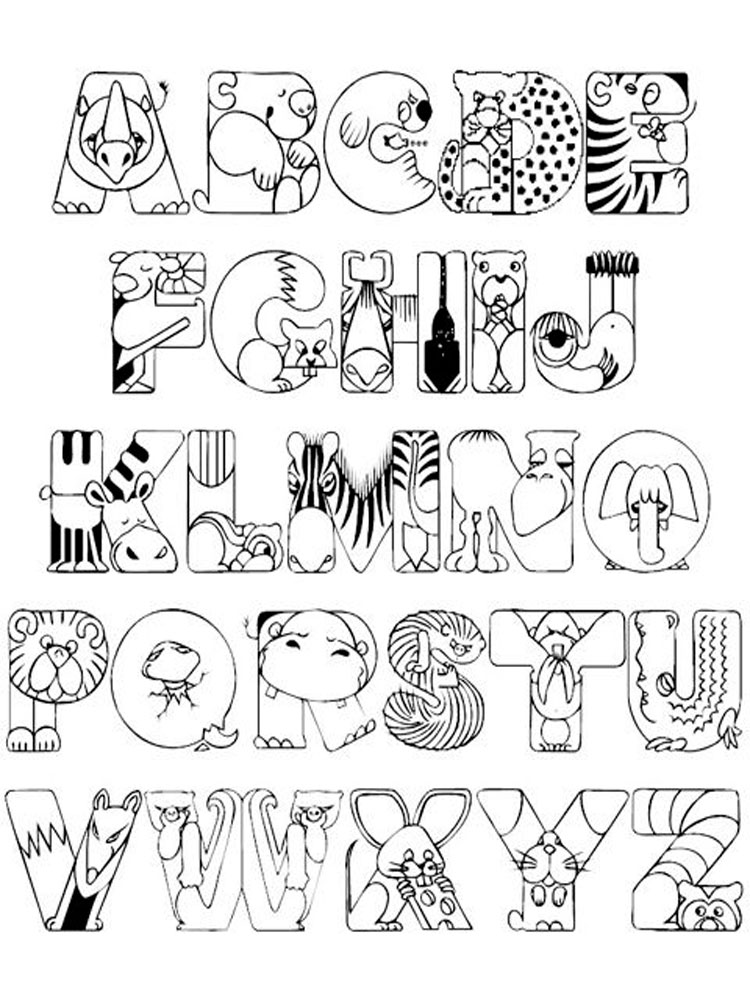 ABC Alphabet coloring pages Download