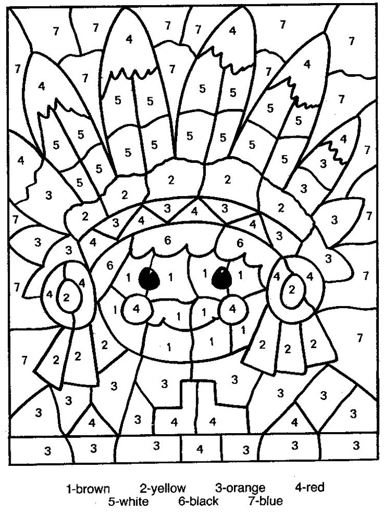 color by number coloring pages 11 - Number Coloring Pages 2