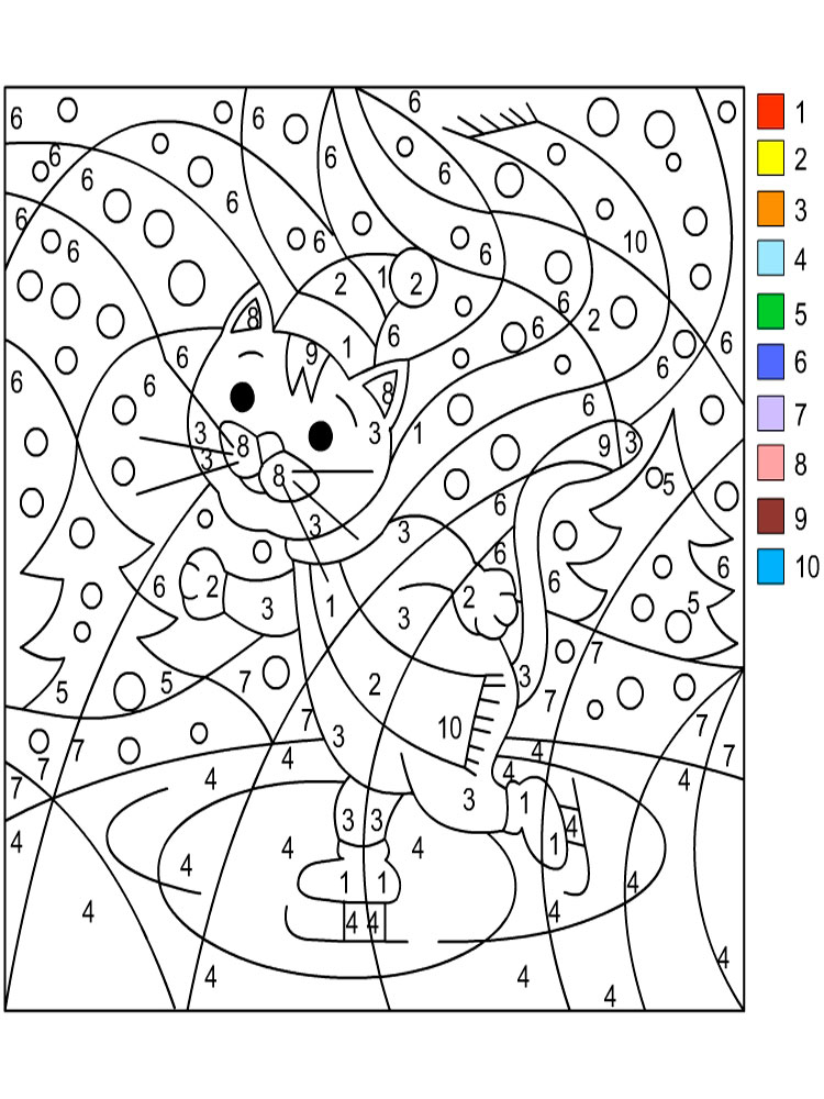 Bewitching image pertaining to color by numbers free printable