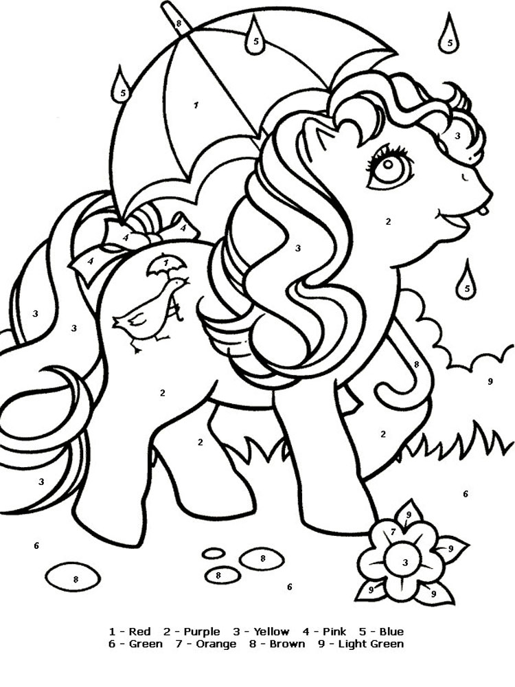 Color By Number Coloring Pages 15