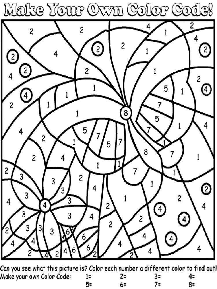 color by numbers coloring pages download and print color. Black Bedroom Furniture Sets. Home Design Ideas