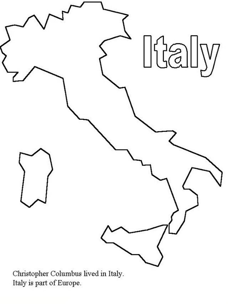 Italy coloring pages. Download and print Italy coloring pages