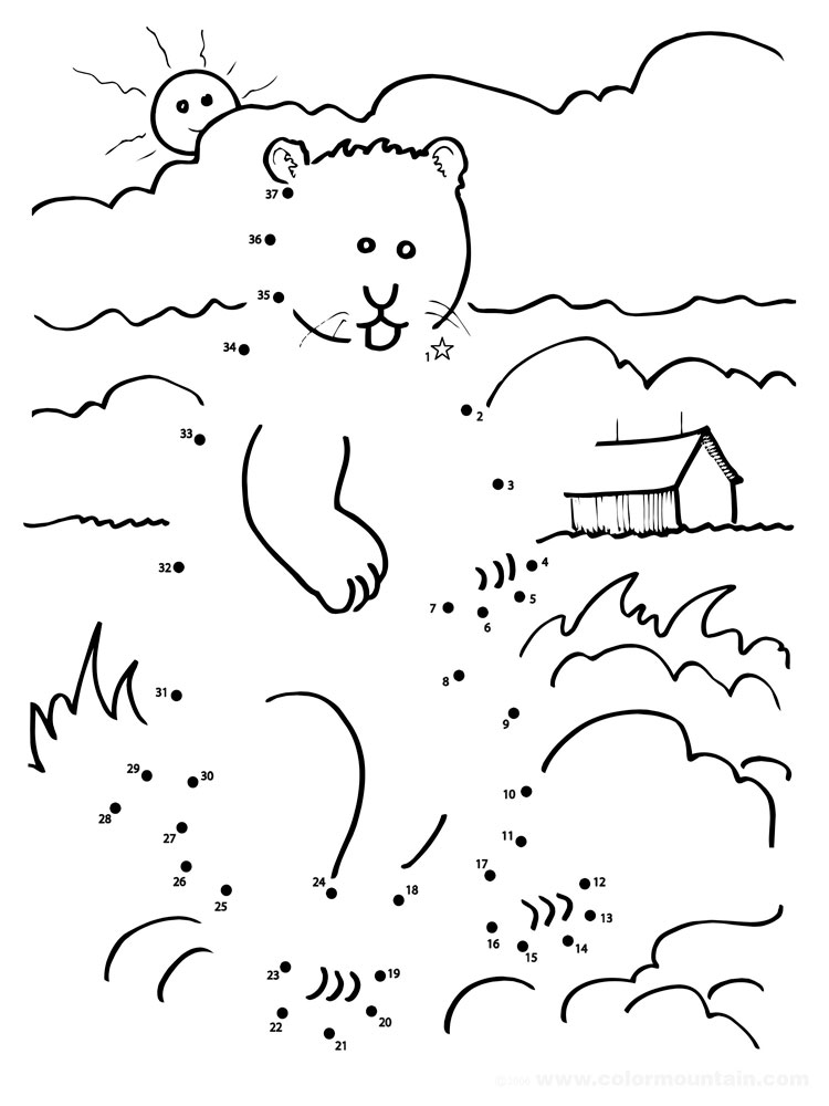 Dot To Dot coloring pages Download