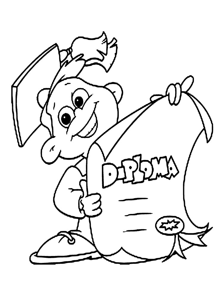 Graduation coloring pages Download and print Graduation