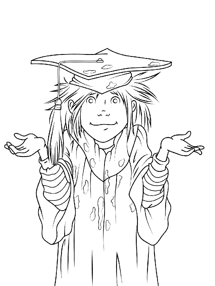 Graduation Coloring Pages. Download And Print Graduation Coloring Pages.