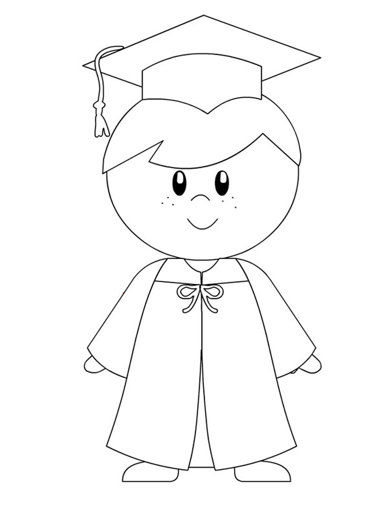 Graduation coloring pages Download