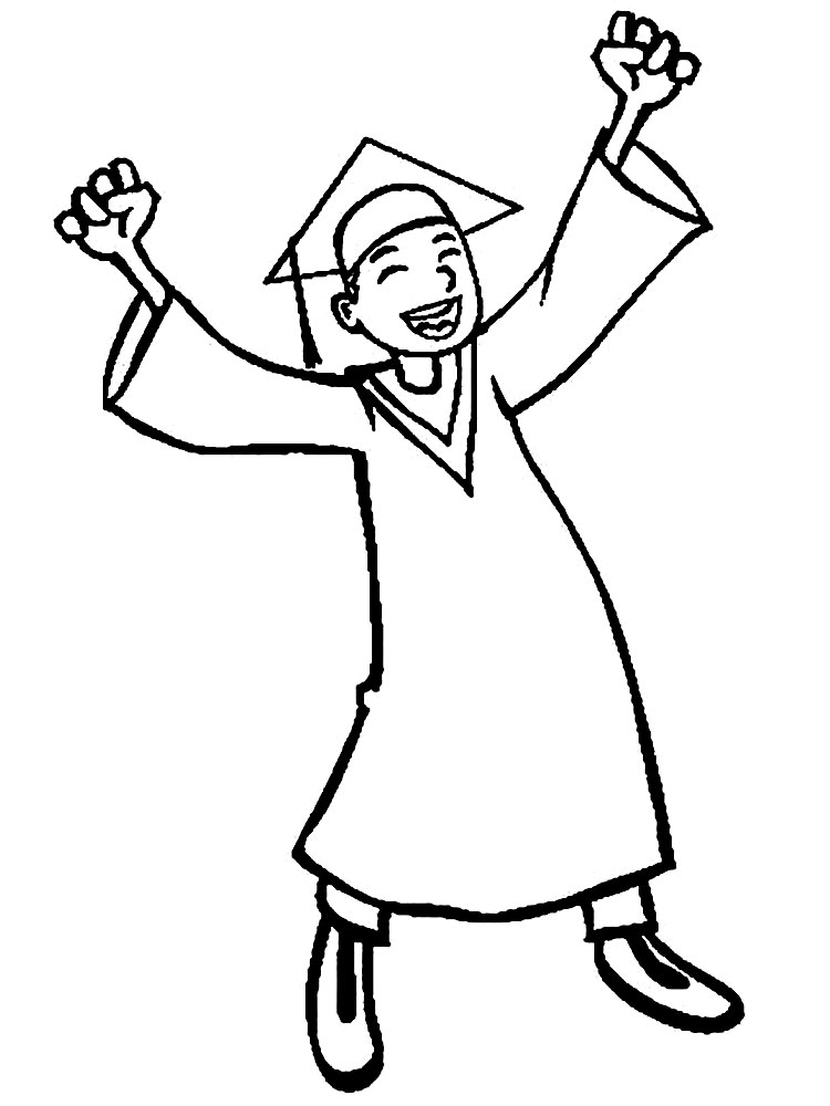 Graduation coloring pages download and print graduation for Graduation coloring pages to print