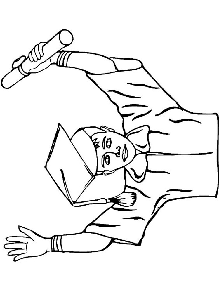 Graduation coloring pages. Download and print Graduation ...