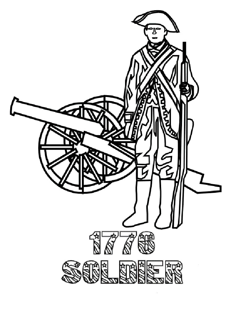 revolutionary war coloring pages 16