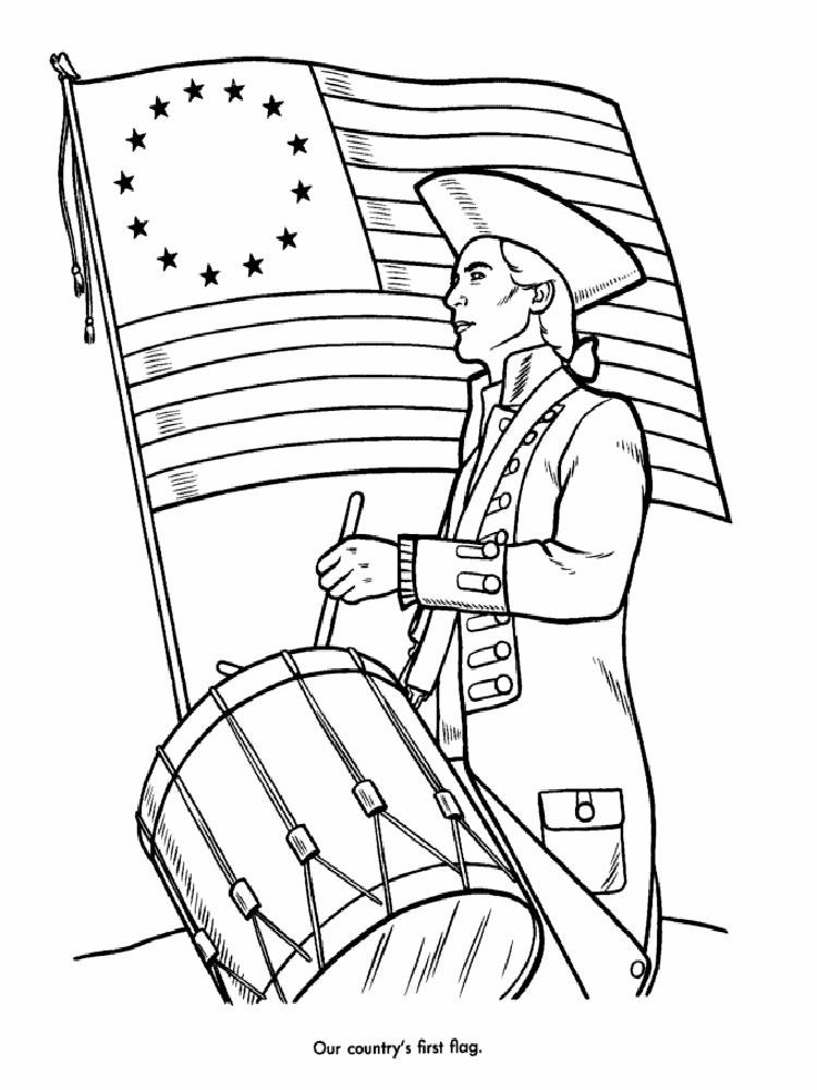 American Revolutionary War coloring