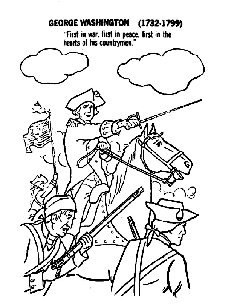 American Revolutionary War coloring pages Download and print American Revolutionary War