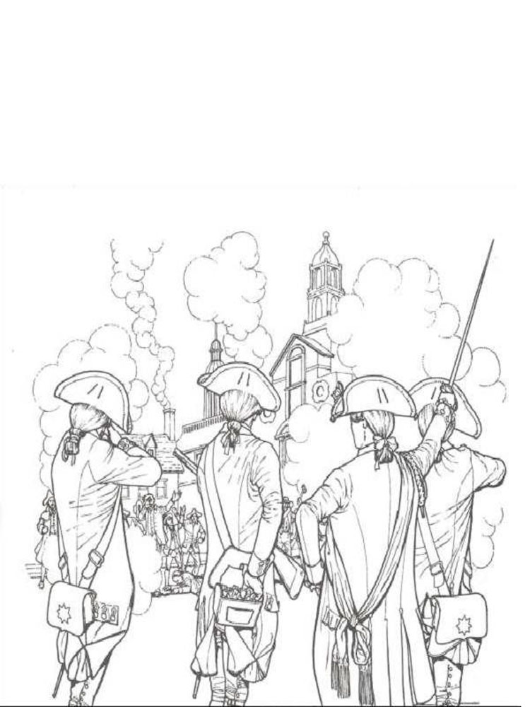 american revolution coloring pages printable - photo#22