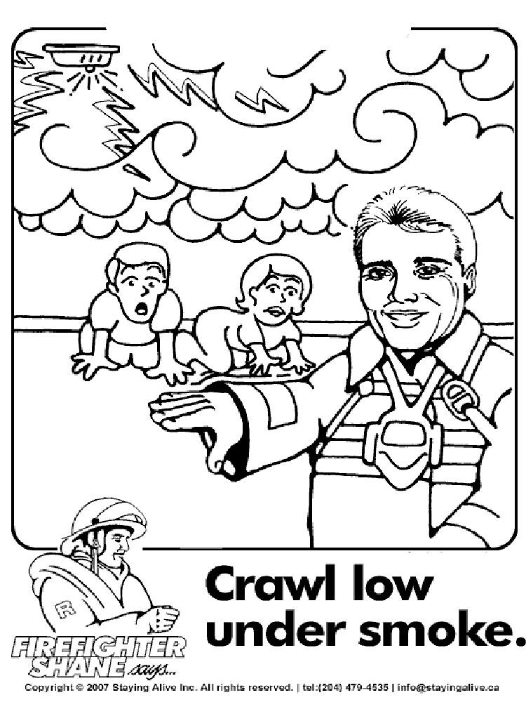 playing safe coloring pages - photo#32