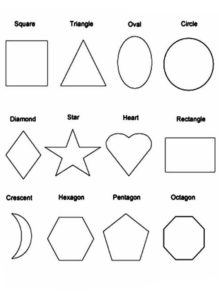 coloring pages and shapes | Shapes coloring pages. Download and print Shapes coloring ...
