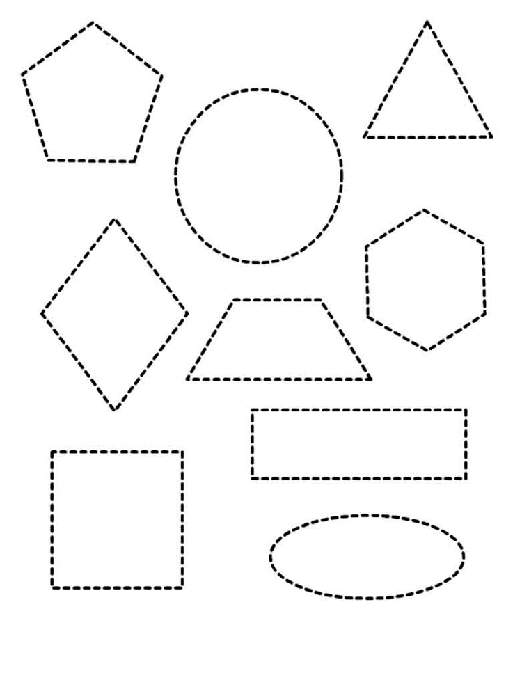 Shapes Coloring Pages Download And Print Shapes Coloring