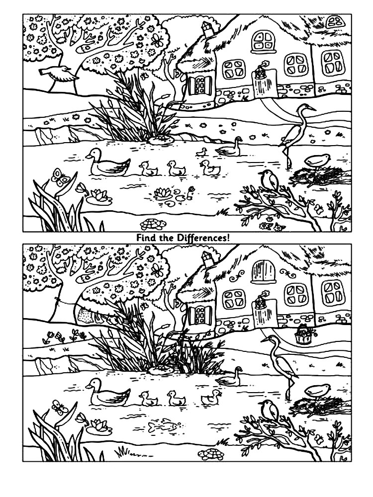 Spot the difference coloring pages download and print spot the spot the difference coloring pages 11 altavistaventures Choice Image