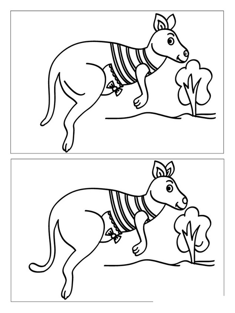 Spot The Difference Coloring Pages 12