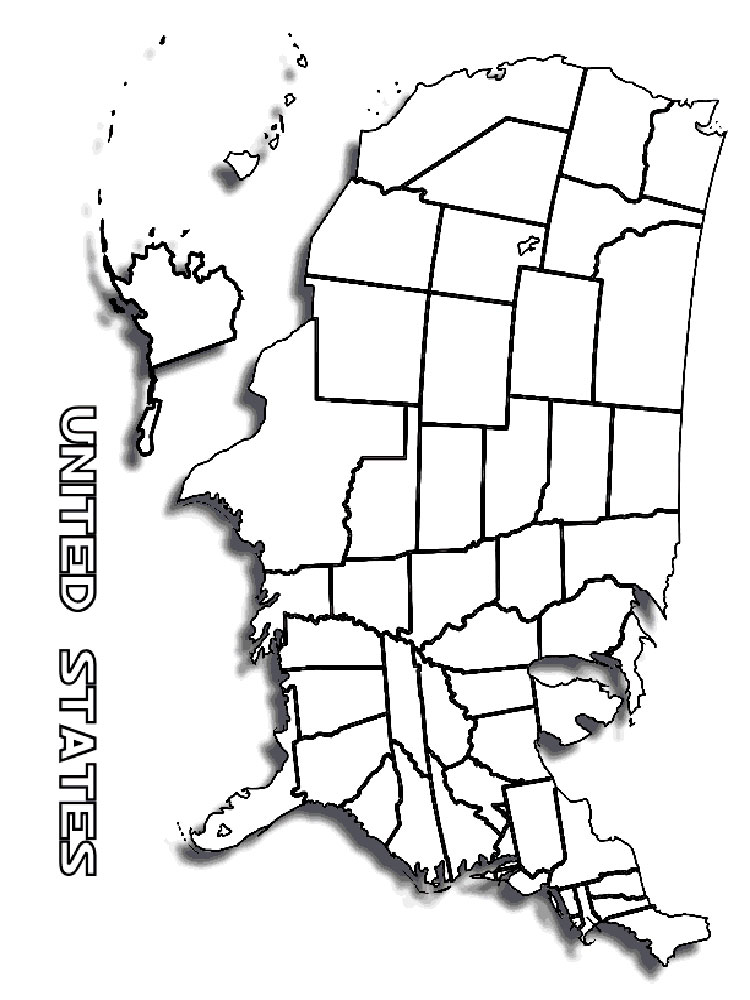 State map coloring pages download and print state map for Coloring pages maps
