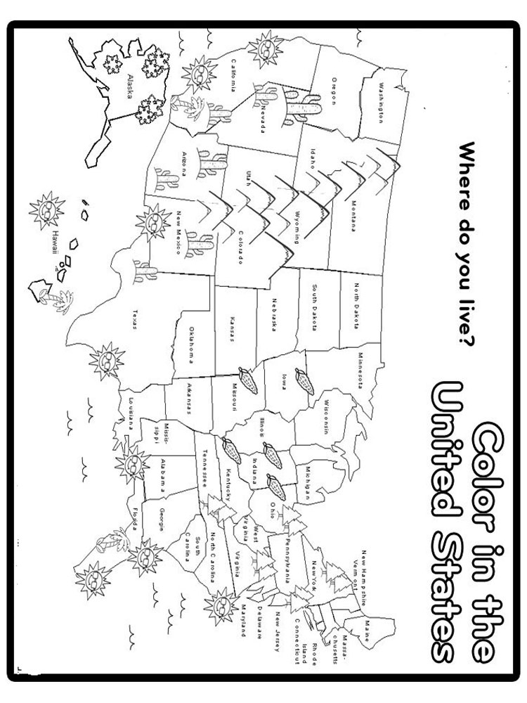 State Map coloring pages Download and print State Map
