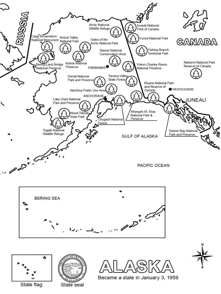 State Map Coloring Pages 6