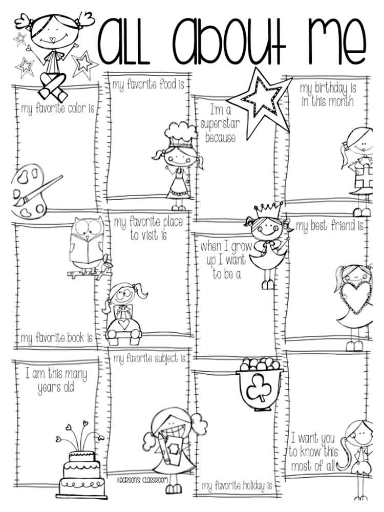 ... Educational All About Me Coloring Pages 14 ...