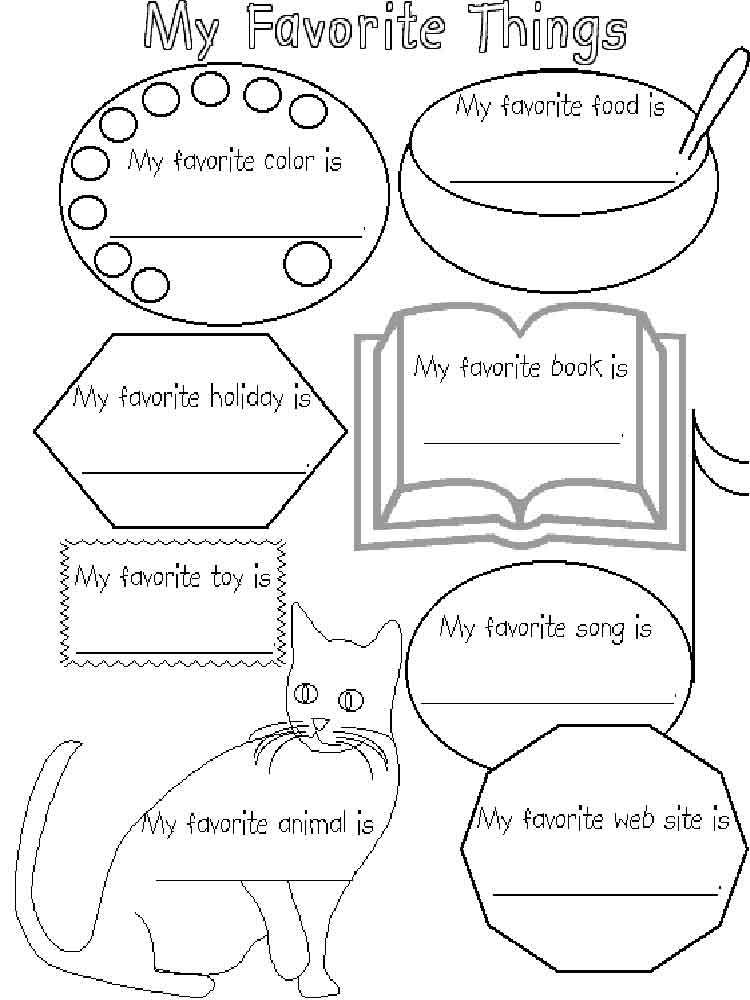 All About Me coloring pages Free