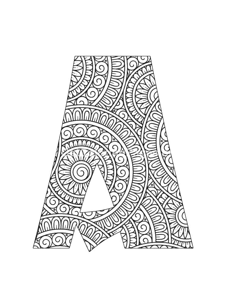 Letter A coloring pages of alphabet. Download and print ...