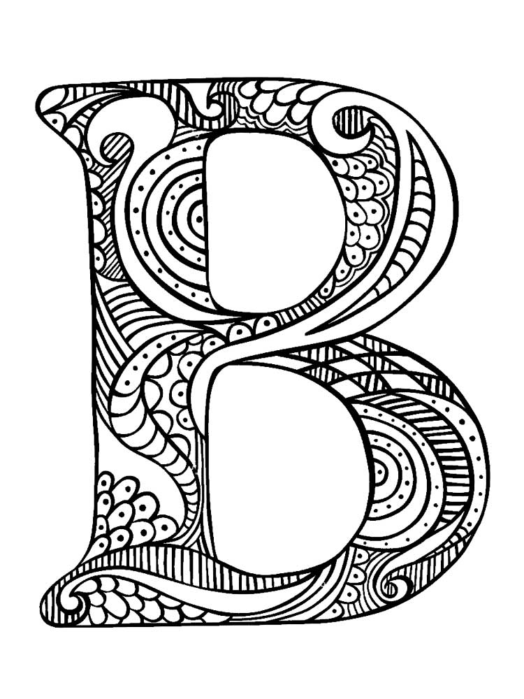 Letter B coloring pages. Download and print Letter B ...