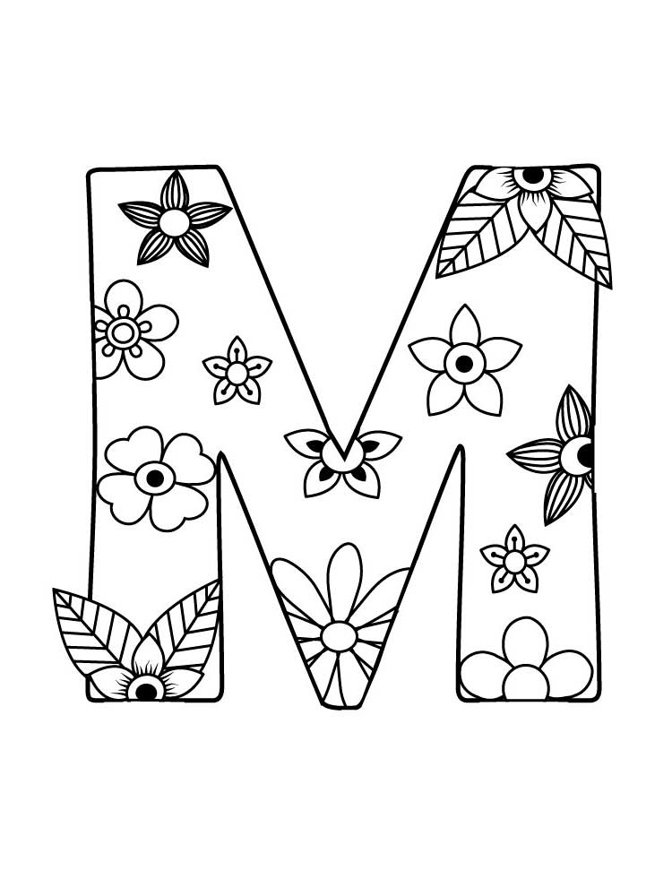 Letter M Coloring Pages Download And Print Letter M Coloring Pages