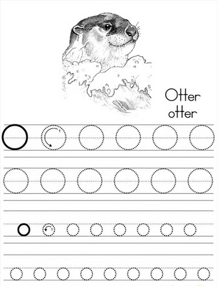 Letter O Coloring Pages Download And Print Letter O Coloring Pages