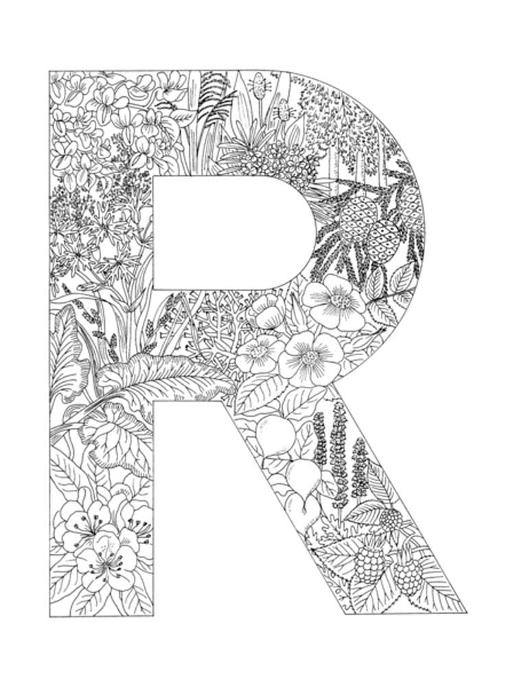 Letter R coloring pages. Download and print Letter R ...
