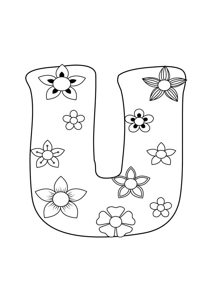 Letter U Coloring Pages Download And Print Letter U Coloring Pages