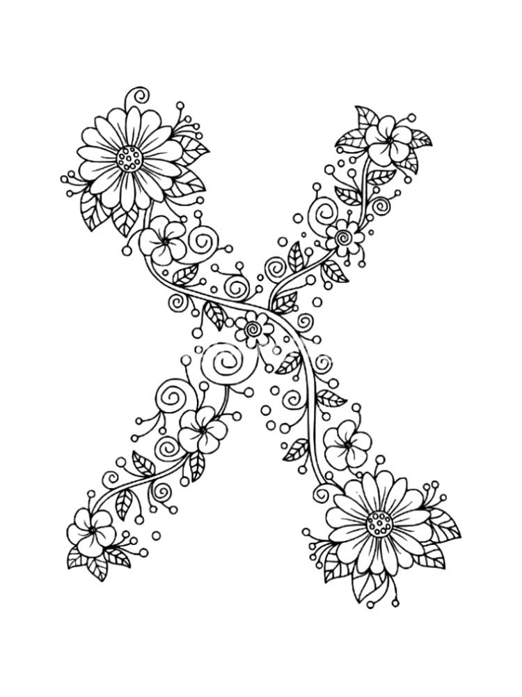Letter X Coloring Pages Download And Print Letter X Coloring Pages